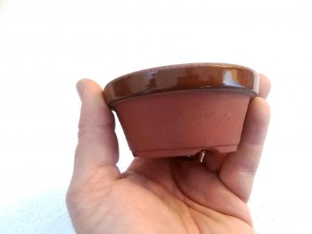 Vaso bonsai da coltivazione in terracotta (4) 12,7cm